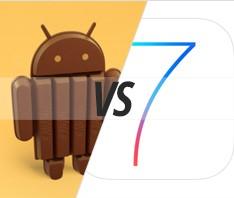 Мобильная новость - Битва за первое место: Android 4.4 KitKat против iOS 7