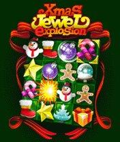 Скачать бесплатно игру Jewel Explosion Xmas - java игра для мобильного телефона. Скачать Взрыв самоцветов: Рождество