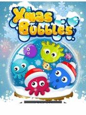 Скачать бесплатно игру Xmas Bubblies - java игра для мобильного телефона. Скачать Рождественские пузыри
