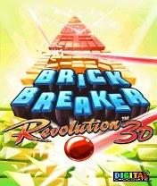 Скачать бесплатно игру 3D Brick Breaker Revolution - java игра для мобильного телефона. Скачать 3D Революция дробилок