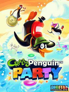 Crazy Penguin Party Скачать бесплатно игру Безумная вечеринка пингвинов - java игра для мобильного телефона