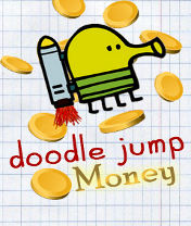 Doodle Jump: Money Скачать бесплатно игру Прыгающие человечки: Монетки - java игра для мобильного телефона