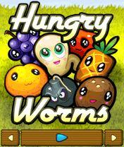 Hungry Worms Скачать бесплатно игру Голодные червячки - java игра для мобильного телефона
