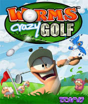 Скачать бесплатно игру Worms Crazy Golf - java игра для мобильного телефона. Скачать Червячки: Безумный гольф