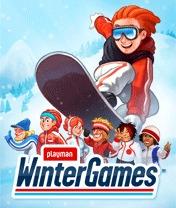 Скачать бесплатно игру Playman Winter Games - java игра для мобильного телефона. Скачать Плеймен: Зимние игры